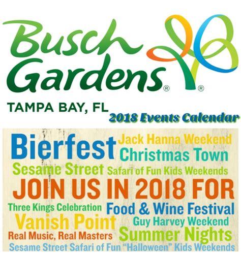 busch gardens tampa bay calendar