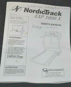 Nordictrack Treadmill Owners Manual Part List Diagram