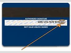 What and where is the Card Verification Value CVV Reef