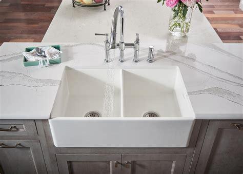 menards bathroom sink countertops elkay fireclay kitchen sinks in white apron farm