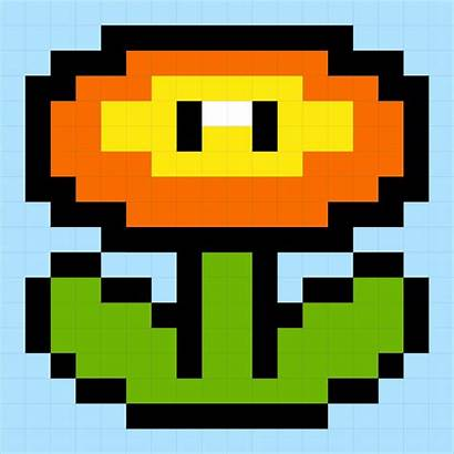 Mario Fire Flower Super Brothers Block Perler