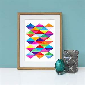 Wall art decor picture graphic colorful blue