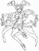 Cyberpunk Sona Legends League Coloring Pages Deviantart Draw Drawings Link Sketches Halloween Game Chibi Inked Hope Version Chillout sketch template