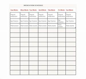 Medication Schedule Spreadsheet Medication Schedule Template 14 Free Word Excel Pdf