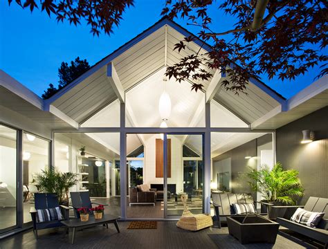 interior structure of house eichler house modernized by klopf architecture