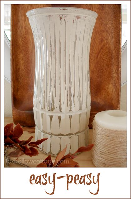 Painting A Glass Vase by Easy Diy Fall Craft Painted Distressed Glass Vase Fox