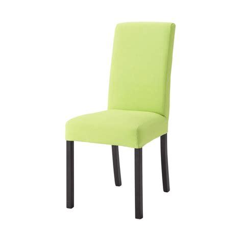 la chaise verte housse de chaise en coton verte margaux maisons du monde