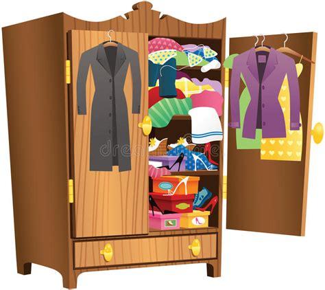 messy clothing wardrobe stock vector illustration