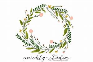 Floral Wreath Clipart Flower Wreath Digital Clipart Wreaths