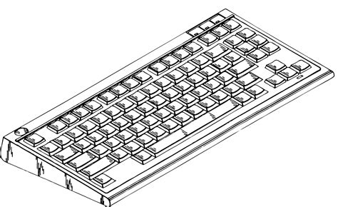 2014 Clipartist Of Info Computer Keyboard Art Coloring