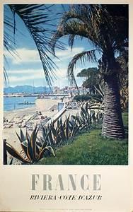 Printed Invoice Original Vintage Poster France Riviera Cote D 39 Azur For