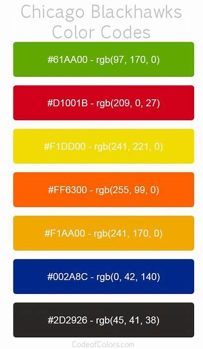 Chicago Blackhawks Colors Codes Rgb Team Tre