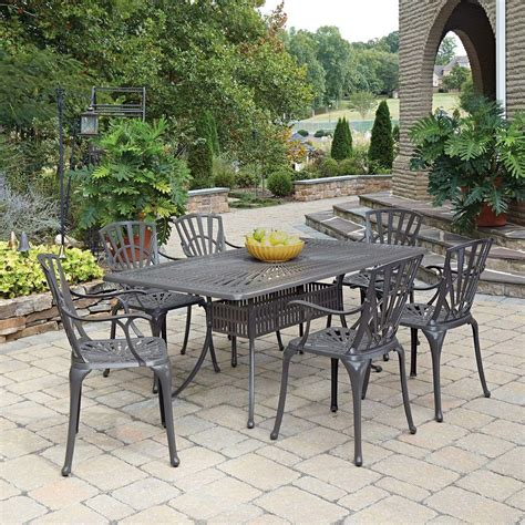 home styles largo 7 outdoor patio dining set with