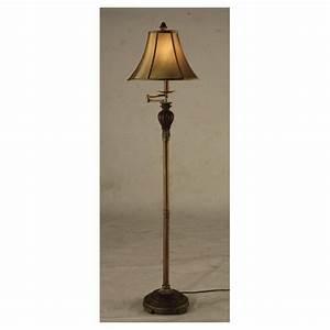 Crestviewr baylor swing arm floor lamp 233454 lighting for Floor lamp 2 arms