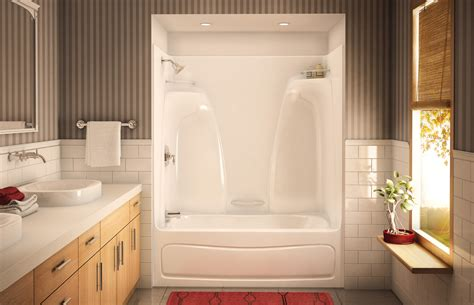 bathtub shower surround kits ideas wood elegant bathroom