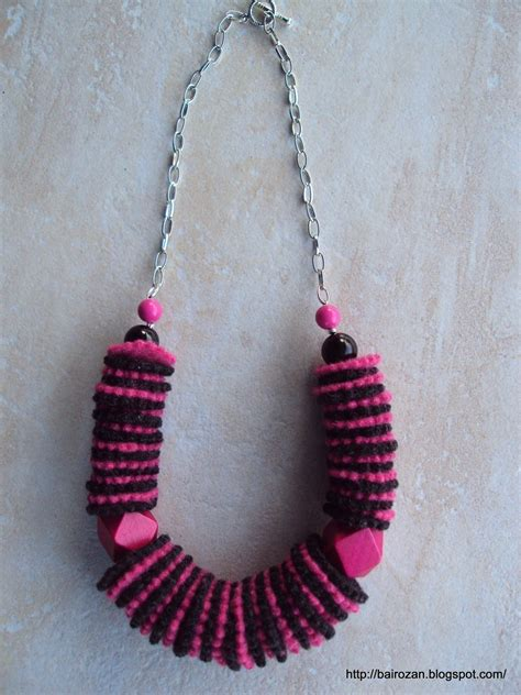 felt necklaces  recycled clothes  fabric necklace