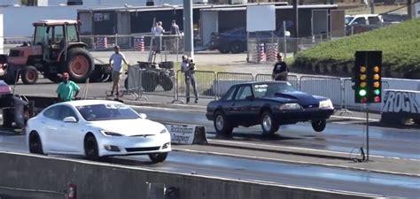 Tesla Model S P100d Vs Drag Cars, Probably Last 1/4-mile