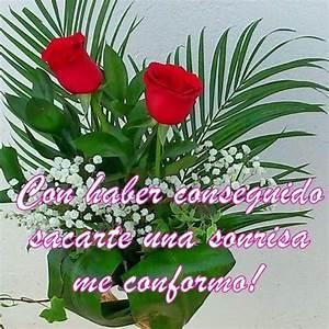 Frases de felicitación con un ramo de flores