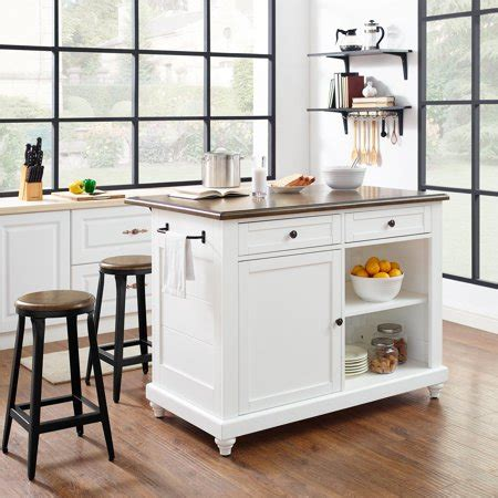 kitchen island montreal dorel living kelsey kitchen island with 2 stools white