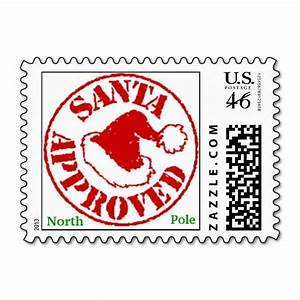 santa approved christmas stamps from north pole With print letter postage online