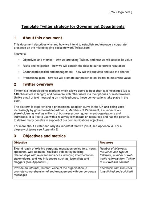 Government Resume Guidelines by Template Strategy For Government Departments