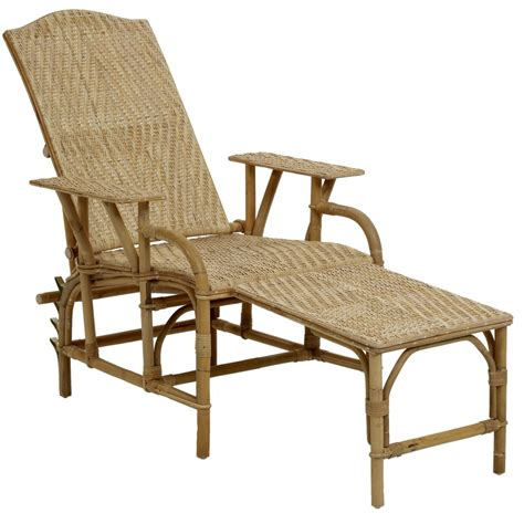 chaise en rotin vintage chaise longue en rotin naturel inclinable
