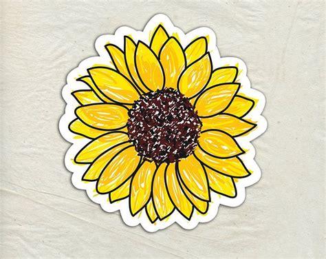sunflower decal sunflower vinyl sticker sunflower