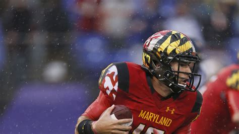 maryland football  wear red uniforms  hand painted