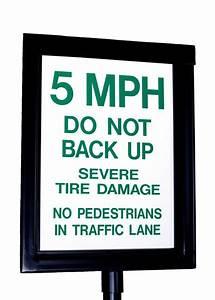 Traffic Spike Warning Signs