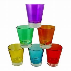Verre à Café : set de 6 verres caf multicolores ~ Teatrodelosmanantiales.com Idées de Décoration