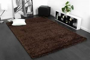 Langflor Teppich Saugen : flauschiger hochflor langflor polyester shaggy teppich meliert in braun ~ Markanthonyermac.com Haus und Dekorationen