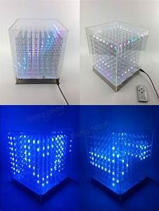 Rgb 8x8x8 Led Cube 3d Light Square Electronic Diy Kit Sale
