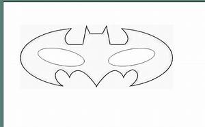 Batman eye mask coloring pages for Batman face mask template
