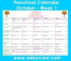 october preschool curriculum lesson plans theme circle 613 | October Calendar Preschool Tree Theme Lesson Plans1
