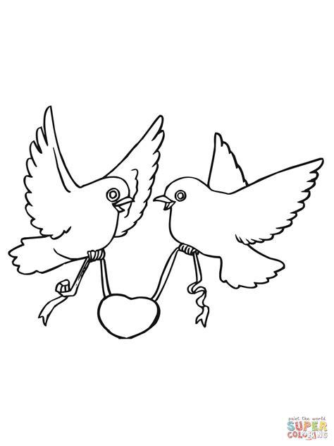 love birds  hearts coloring page  printable