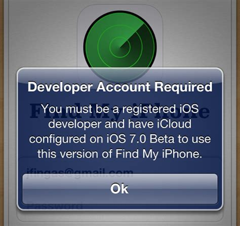 find my iphone login dev only find my iphone update pushed to consumers breaks