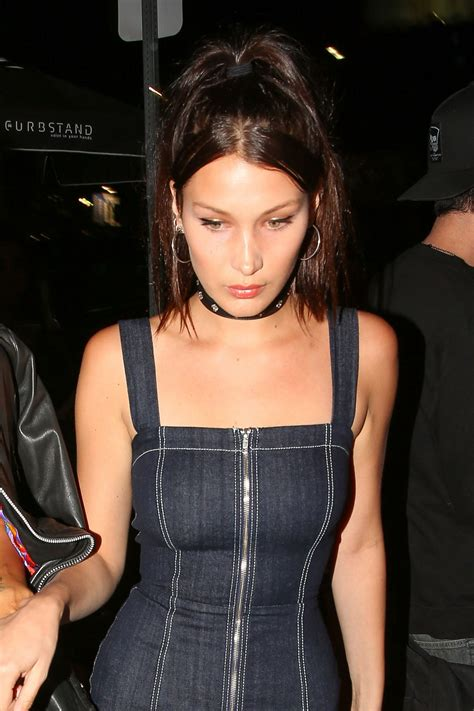 Bella Hadid Night Out Style - West Hollywood 4/20/2016 ...