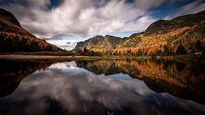 Canada, Fall, Forest, Lake, Mountain, Reflection, Hd, Nature