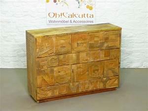 Günstige Vintage Möbel : sideboard kommode buchstaben schrank vintage shabby akazie massiv echt holz m bel pinterest ~ Indierocktalk.com Haus und Dekorationen