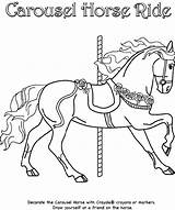 Coloring Horse Carousel Pages Crayola Ride sketch template