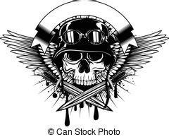 skull in beret wings and dagger vector illustration vector clip search illustration