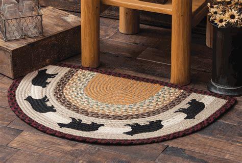 black bear   braided rug