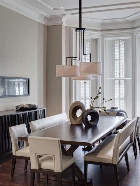 dining room benches  contemporary edge