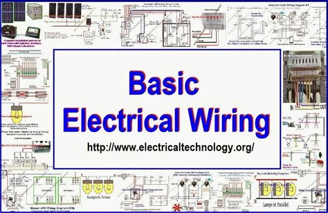basic electrical wiring diagram for house basic household electrical wiring electrical technology