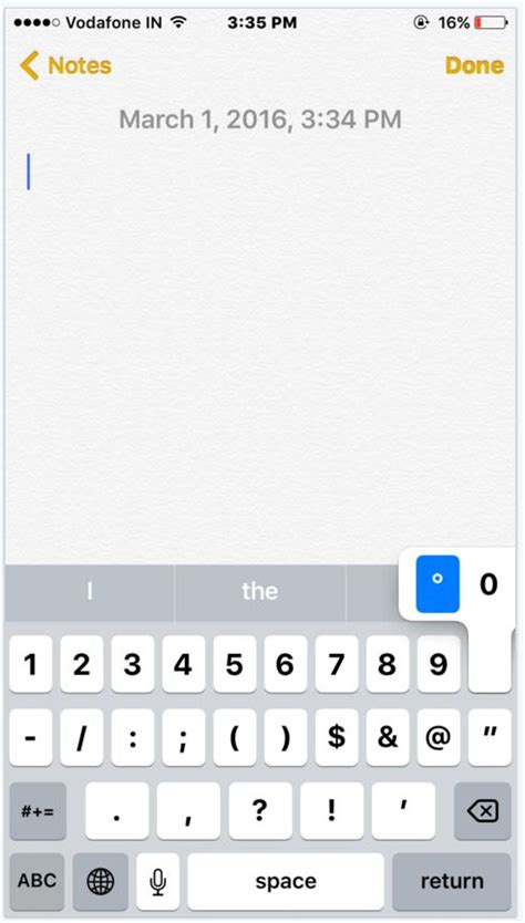 degree symbol iphone how to type degree symbol from ios keyboard how