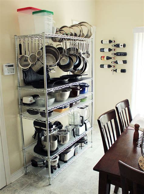 A Smart Effective Wire Shelving Unit For Kitchen Storage