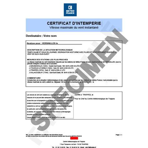 attestation de références clients sur la base d un modèle modele attestation intemperies document