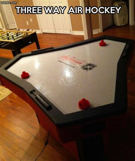 cool air hockey table funny pictures  pic