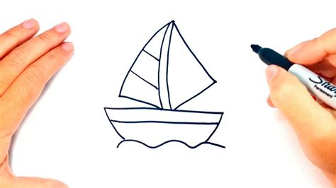 How To Draw A Boat Easy by How To Draw A Boat Boat Easy Draw Tutorial