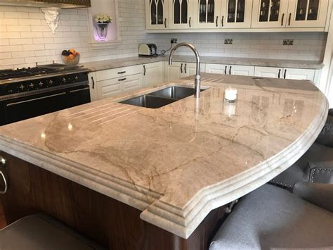 elegantly decorated taj mahal quartzite kitchen  design kitchen world